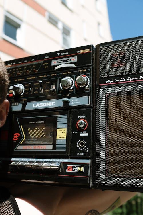Black and Gray Sony Radio