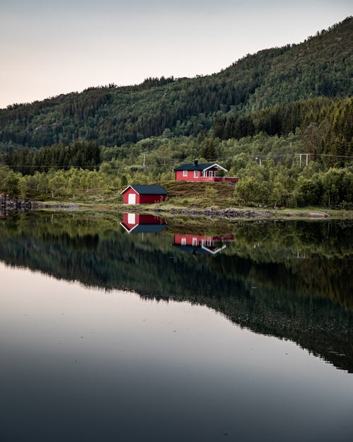 lysrefleksjon, 가을, 강, 거울의 무료 스톡 사진