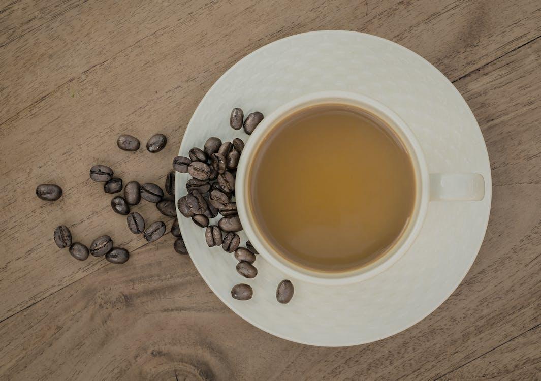 dryck, kaffe, kaffebönor
