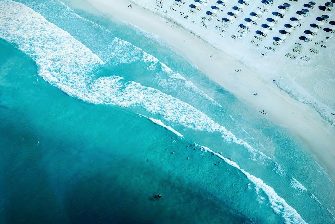 azul, costa, mar