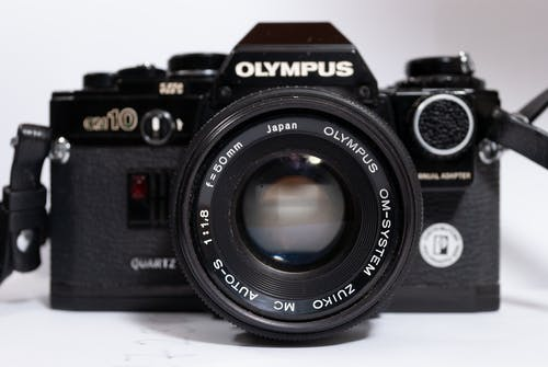 Free stock photo of 35mm, film camera, olympus camera