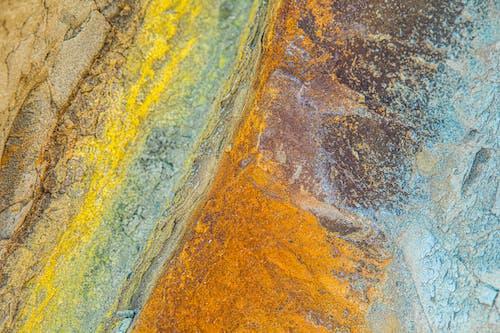 Peinture Abstraite Marron Et Jaune