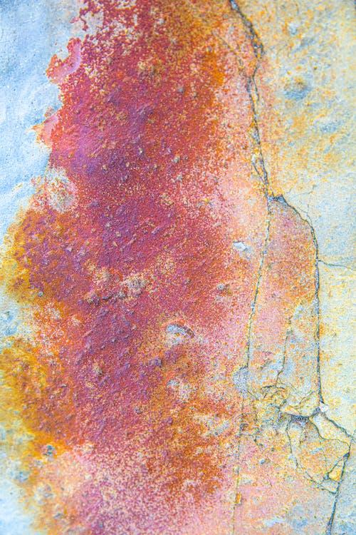 Peinture Abstraite Rouge Jaune Et Blanche