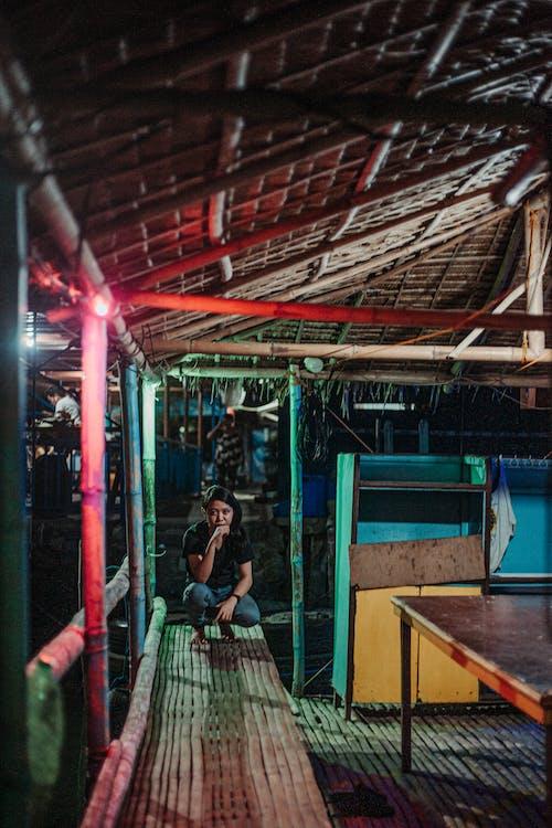 Free stock photo of bahay kubo, crouch, crouching, floating house