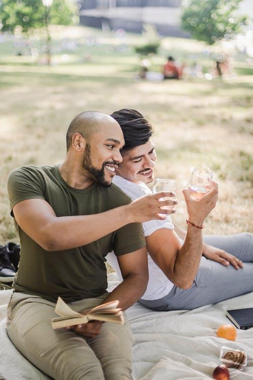 Two Men Having a Picnic