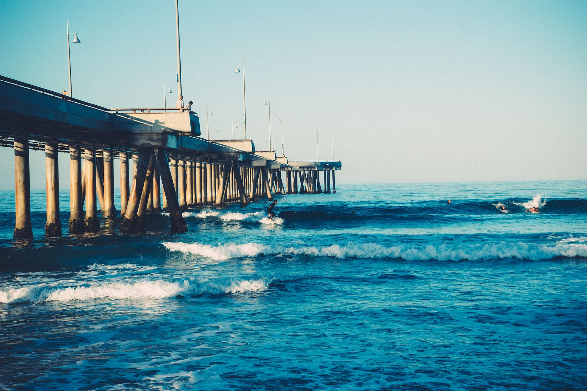 Free stock photo of jetty, landing stage, surfer, pier