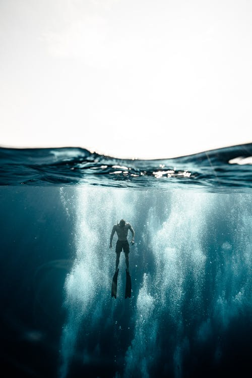 Person in Water Wave