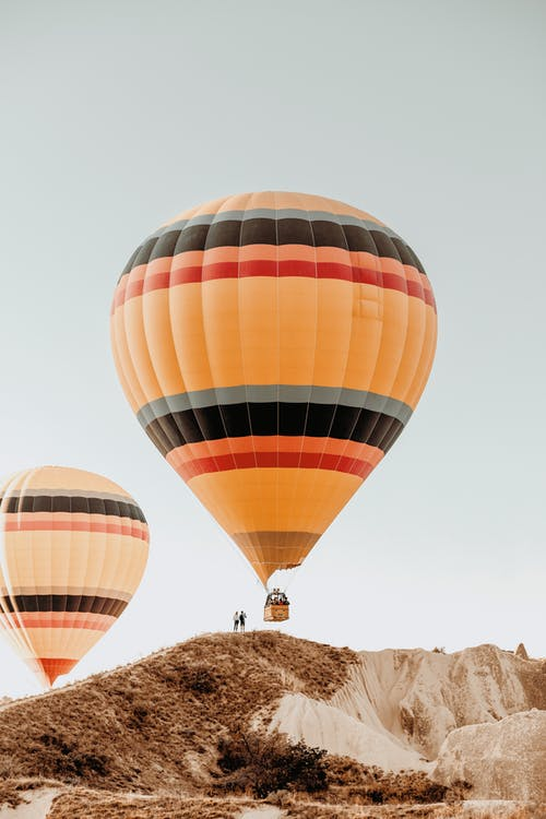 Red Yellow and White Hot Air Balloon