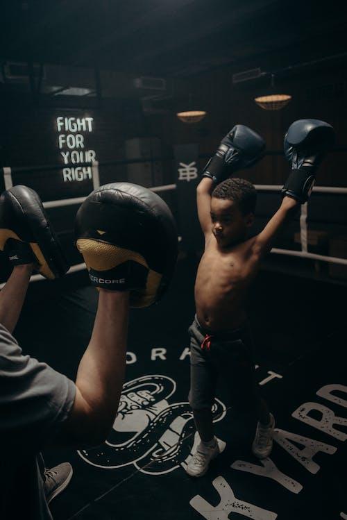 Gratis lagerfoto af afroamerikansk, barn, bokser