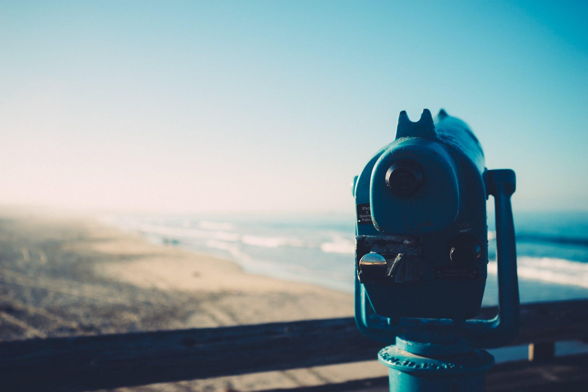 binoculars, telescope, view
