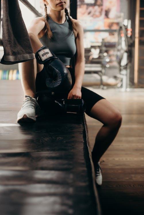 Woman in Black Nike Air Max