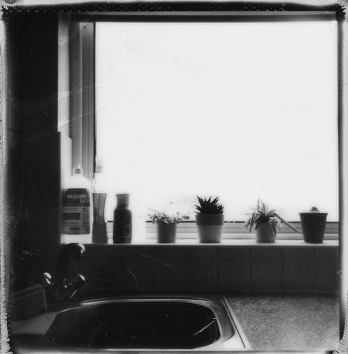 Základová fotografie zdarma na téma Analogový, architektura, černobílá, doma