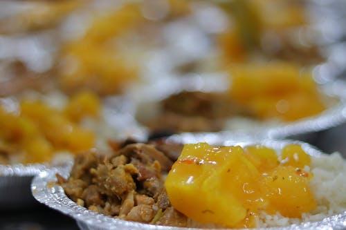 Free stock photo of carne, comida, comida transportada, mandioca
