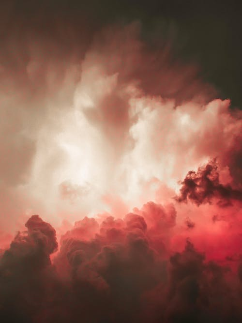 Pink and White Clouds