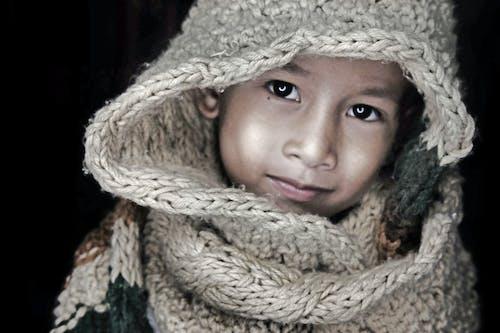 Free stock photo of child, children, dark, eyes
