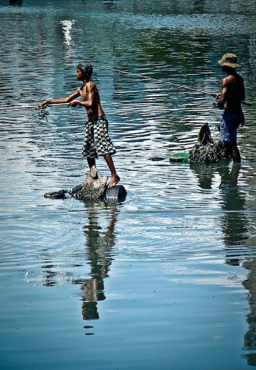 Free stock photo of catching fish, fisher, fisherman