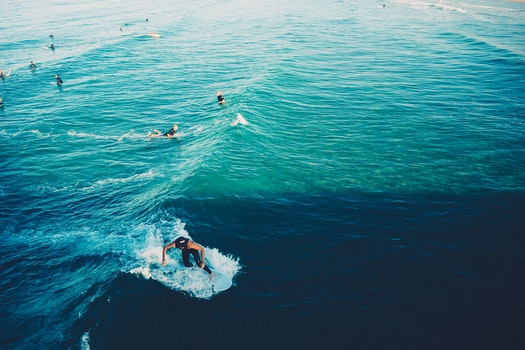 Free stock photo of waves, surfing, surfers