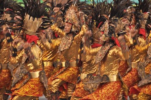 Free stock photo of ati-atihan, dance, festival, gold