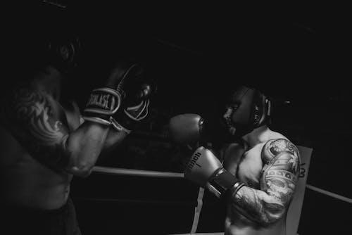 2 Men Wearing Boxing Gloves