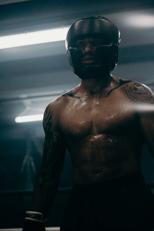 Foto profissional grátis de academia de ginástica, afro-americano, atleta, atlético