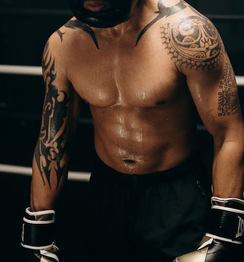 Foto profissional grátis de academia de ginástica, afro-americano, anônimo, atleta