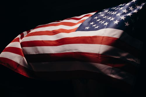 Us a Flag With Black Background