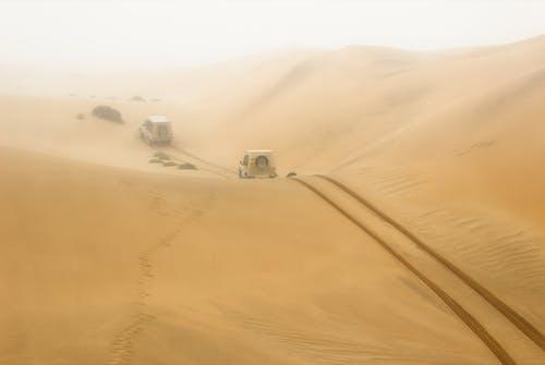 White Car on Desert