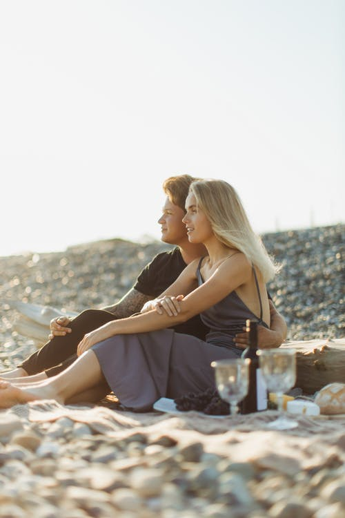 Couple on a Date at a Beach