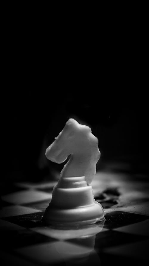 Free stock photo of black, black and white, black background, chess board