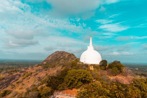 Základová fotografie zdarma na téma obloha, památník, příroda, Srí Lanka
