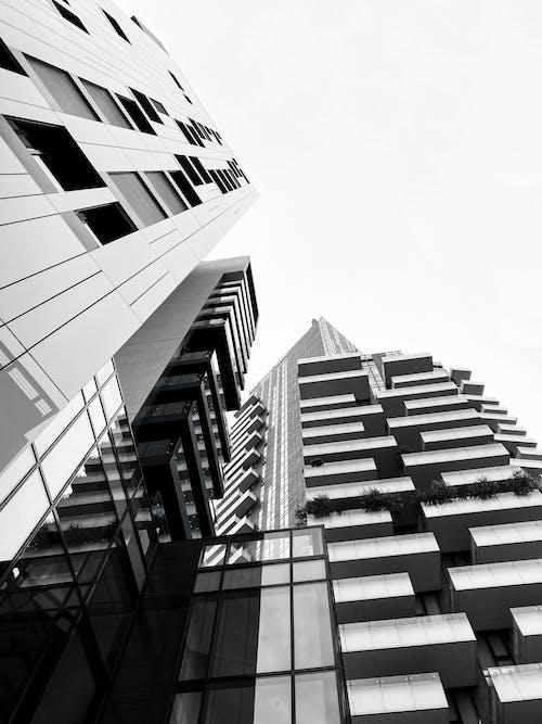 Základová fotografie zdarma na téma budova, budovy, černobílá, cestování