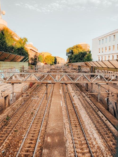 기차, 밀라노, 일몰, 철도의 무료 스톡 사진