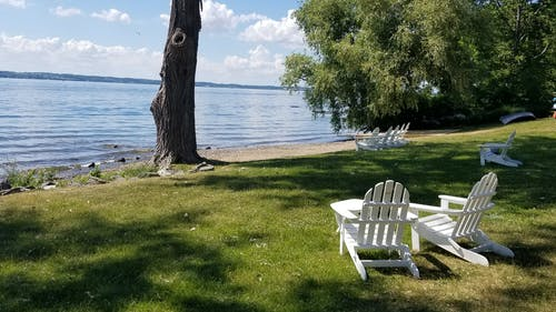 Free stock photo of beach, chairs, lake