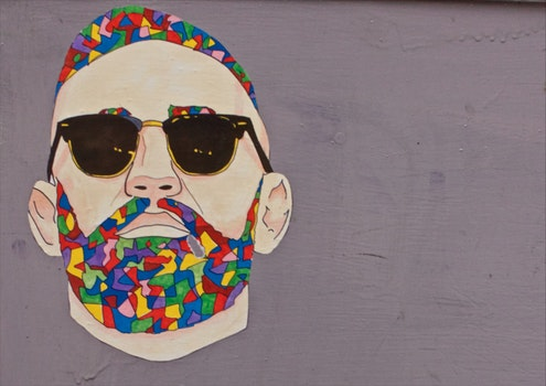 Free stock photo of man, sunglasses, art, graffiti