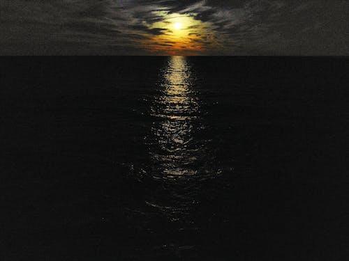 Free stock photo of beach, clouds, dark, dji