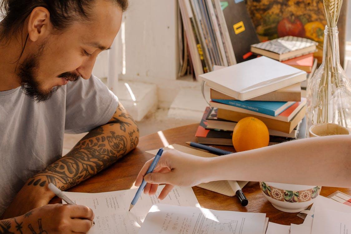 亞洲人, 刺青的, 功課 的 免費圖庫相片