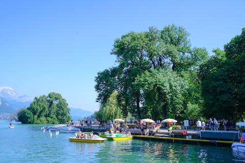 Photos gratuites de annecy, bateaux, bleu, ciel