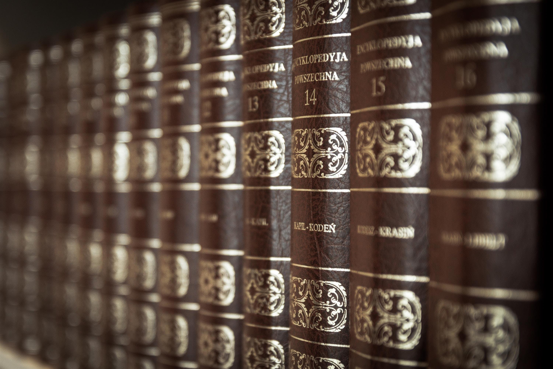 Macro Photo of Brown Book Series