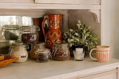 Brown Ceramic Vases on White Table