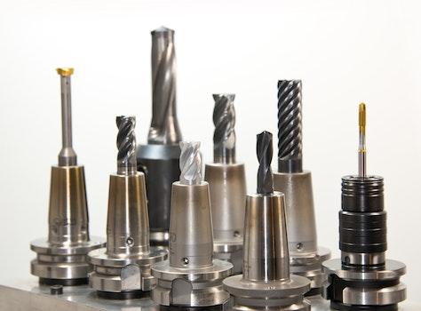 Silver Drill Bits Set