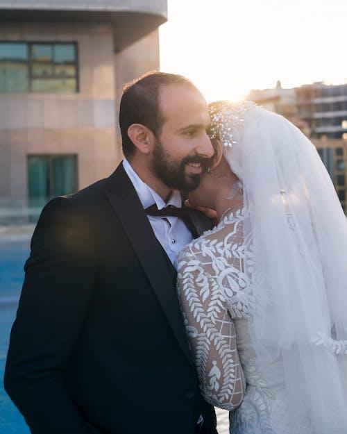 Immagine gratuita di affetto, amore, bella sposa