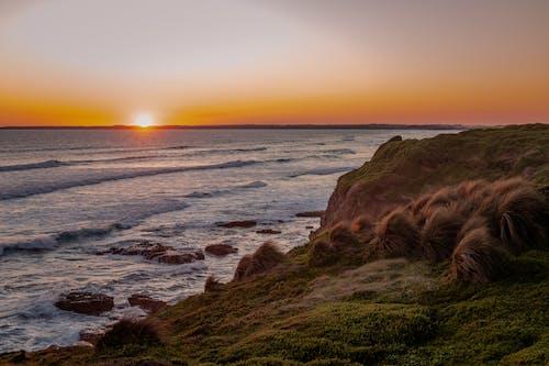 Immagine gratuita di acqua, alba, arancia