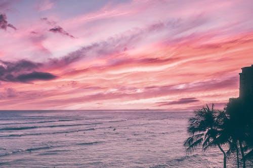 Gratis arkivbilde med bølger, dramatisk himmel, hav
