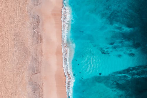 Aerial View Photography of a Turquoise Beach