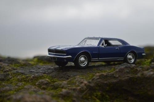 Free stock photo of blue car, camaro, car, miniature