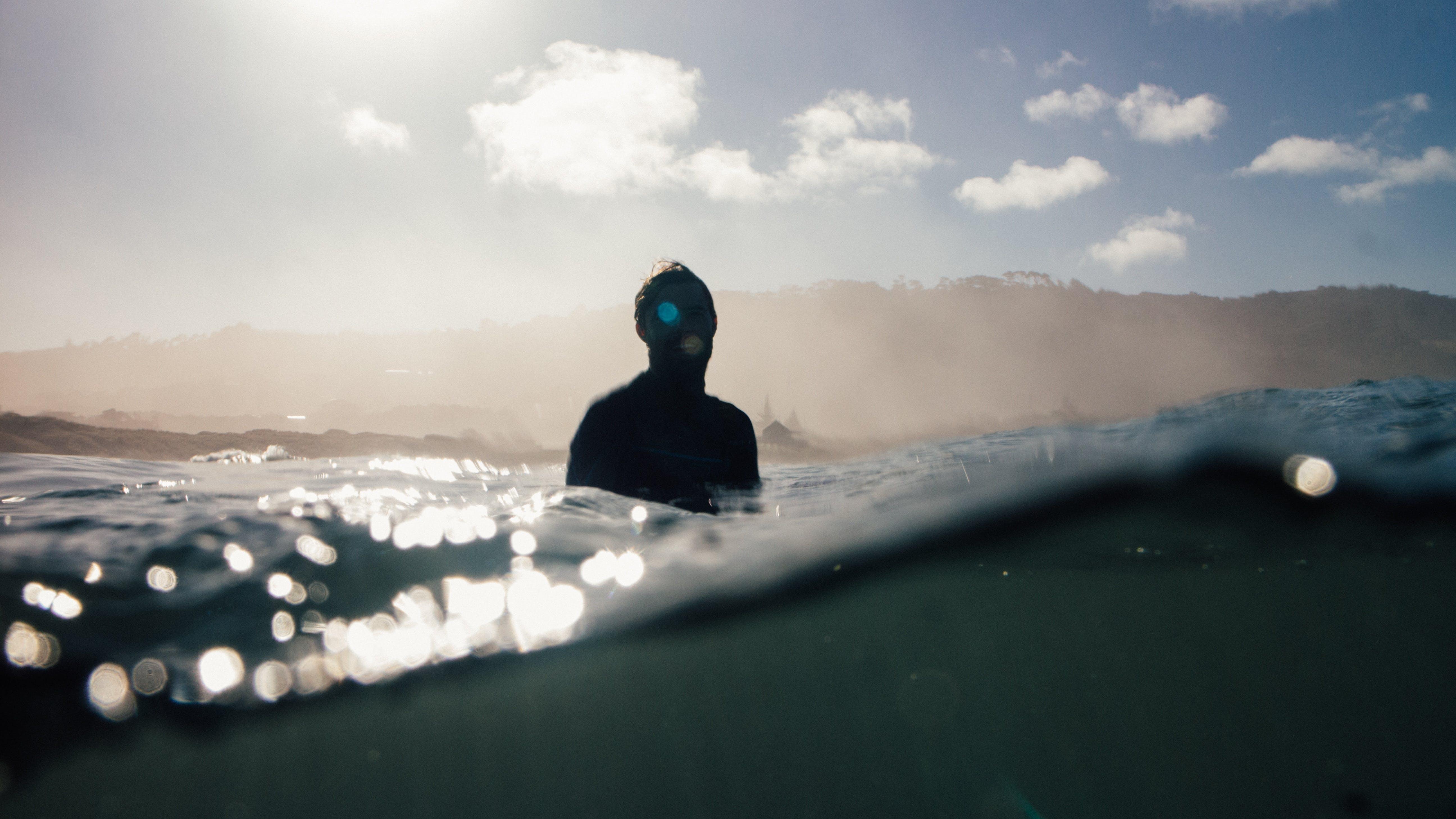 Free stock photo of sea, nature, man, water