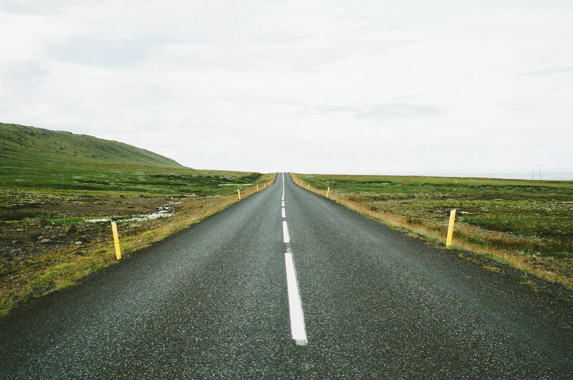 asfalt, cesta, priamy