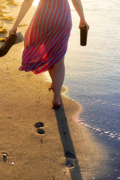 Free stock photo of adult, beach, foot