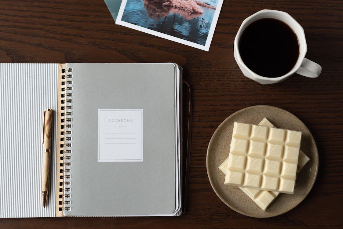 Photo Of White Chocolate On Ceramic Plate