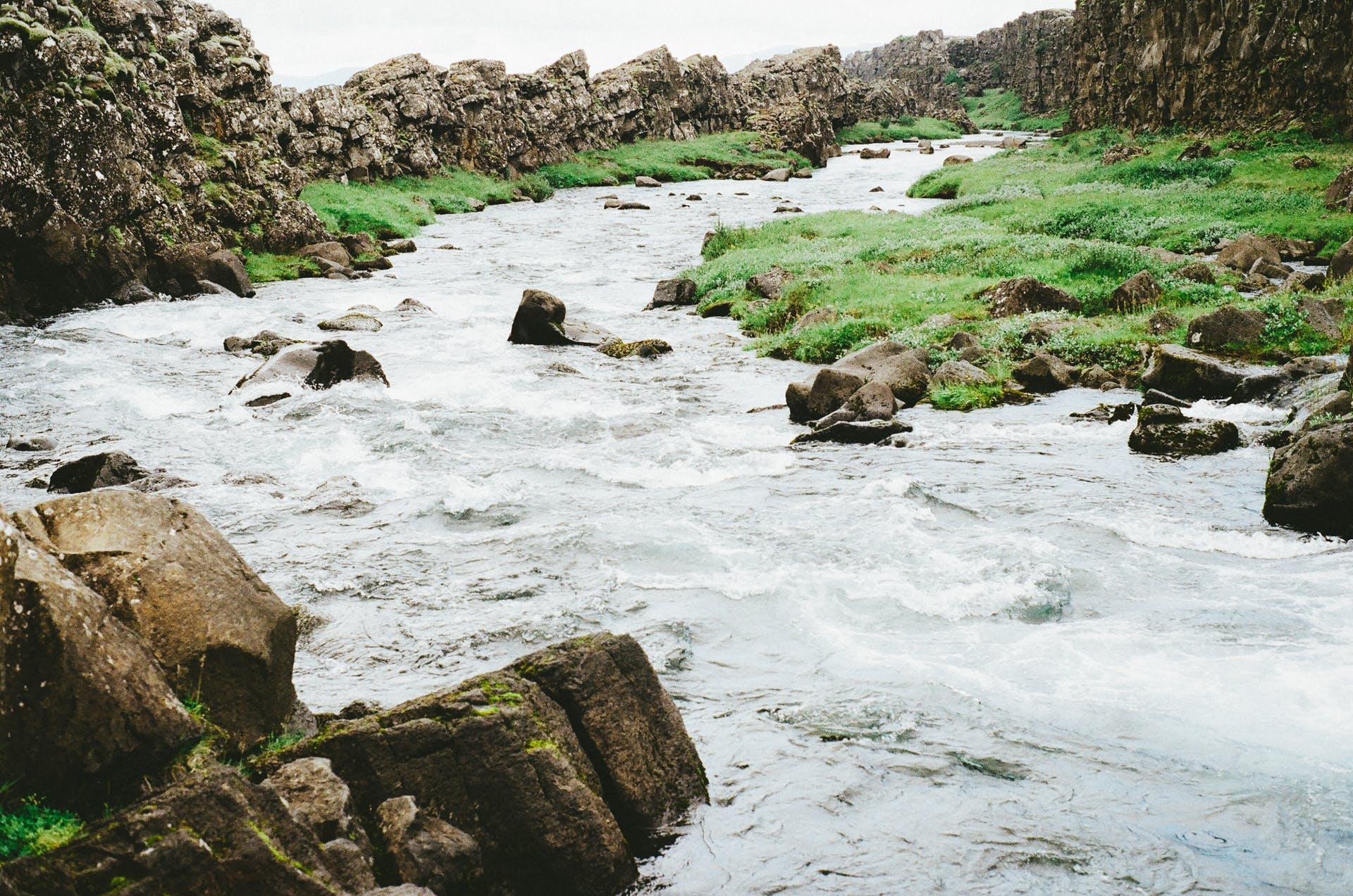 Waterfalls and Boulder Rocks
